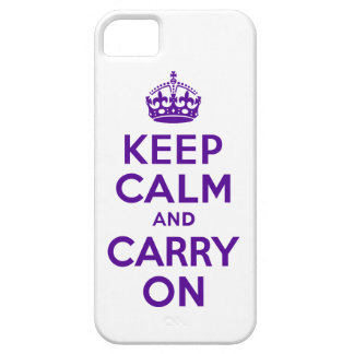 Best Price Keep Calm And Carry On Purple and White iPhone 5 Covers