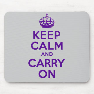 Best Price Keep Calm And Carry On Purple Mouse Pads