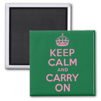 Best Price Pink and Green Keep Calm And Carry On Magnets