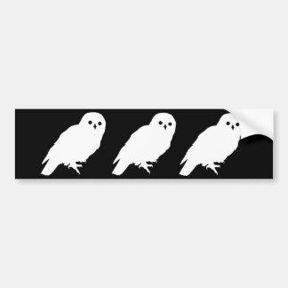 Best Price Three Mysterious White Owls Bumper Sticker