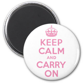 Best Price White and Pink Keep Calm And Carry On Refrigerator Magnets