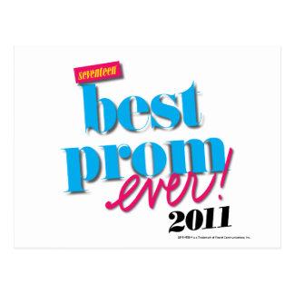 Best Prom Ever - Aqua Postcard