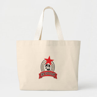 best red restaurant star large tote bag