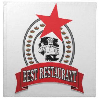best red restaurant star napkin