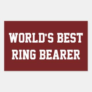 Best Ring Bearer red Sticker