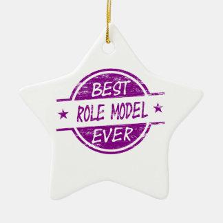 Best Role Model Ever Purple Ceramic Ornament