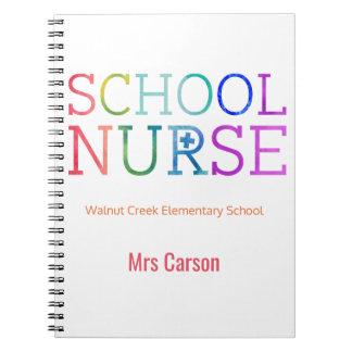 Best School Nurse Ever Personalized Typography Spiral Notebooks