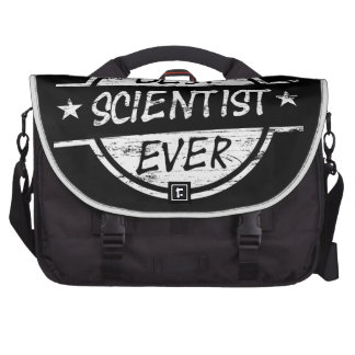 Best Scientist Ever White Laptop Bags