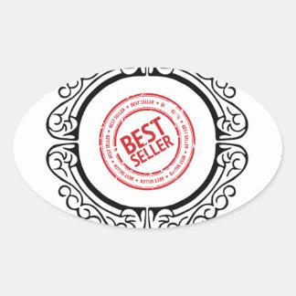 best seller in a frame oval sticker
