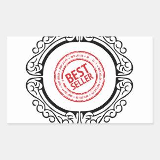best seller in a frame rectangular sticker