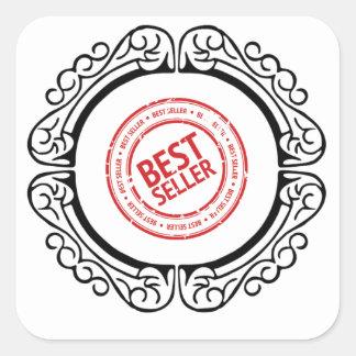 best seller in a frame square sticker