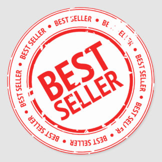 Best Seller Sign Classic Round Sticker