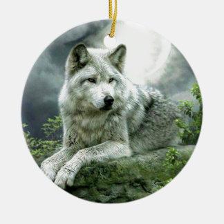 Best Selling Imaginative Wolf Art Illustration Pai Ceramic Ornament