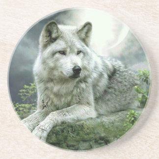 Best Selling Imaginative Wolf Art Illustration Pai Coaster