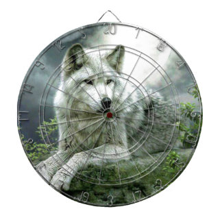 Best Selling Imaginative Wolf Art Illustration Pai Dartboard