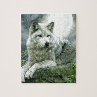 Best Selling Imaginative Wolf Art Illustration Pai Jigsaw Puzzle