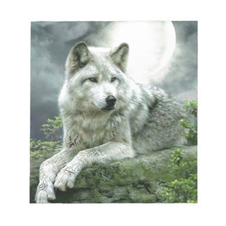 Best Selling Imaginative Wolf Art Illustration Pai Notepad