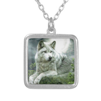 Best Selling Imaginative Wolf Art Illustration Pai Silver Plated Necklace