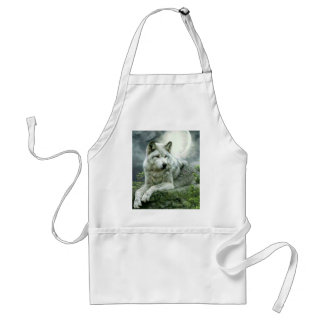 Best Selling Imaginative Wolf Art Illustration Pai Standard Apron