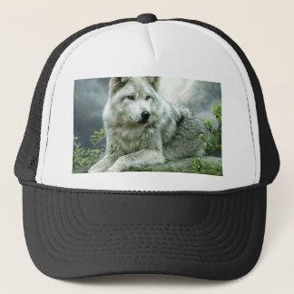 Best Selling Imaginative Wolf Art Illustration Pai Trucker Hat