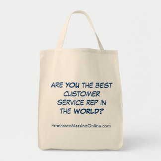Best Service Rep Tote Grocery Tote Bag