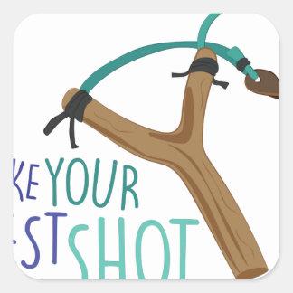 Best Shot Square Sticker