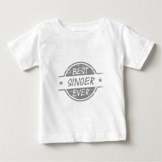 Best Singer Ever Gray Baby T-Shirt