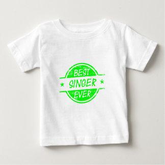 Best Singer Ever Green Baby T-Shirt