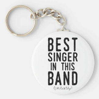 Best Singer (probably) (blk) Key Ring
