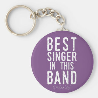Best Singer (probably) (wht) Key Ring