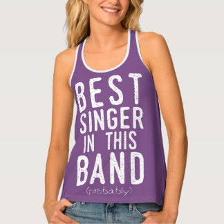 Best Singer (probably) (wht) Singlet