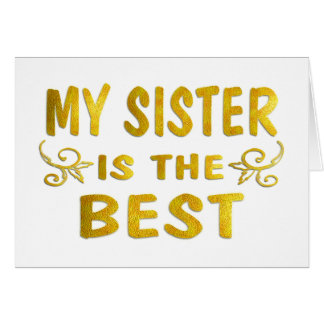 Best Sister Card