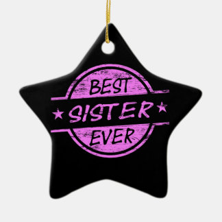 Best Sister Ever Pink Christmas Tree Ornament