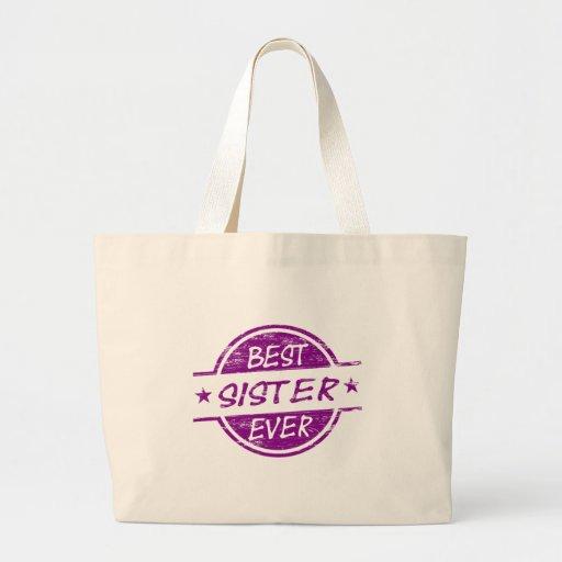 Best Sister Ever Purple Bags