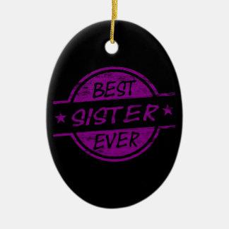 Best Sister Ever Purple Christmas Tree Ornament