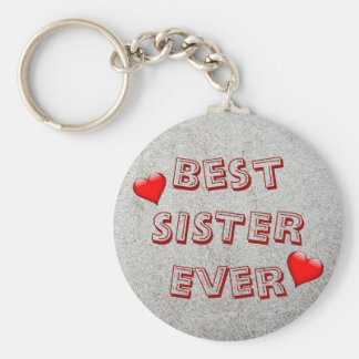 Best sister ever | Sand texture photo Key Ring