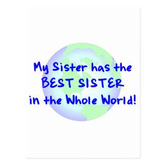 Best Sister Postcard