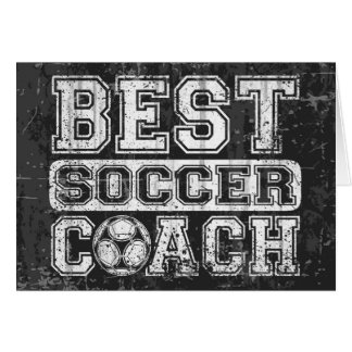 Best Soccer Coach Card