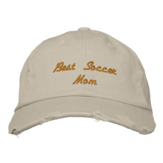 Best Soccer Mom Distressed Baseball Cap