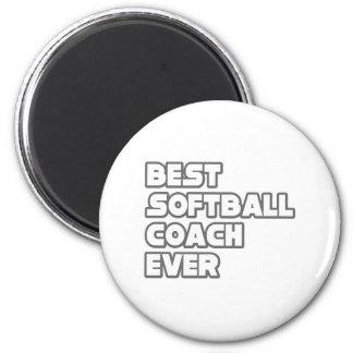 Best Softball Coach Ever Refrigerator Magnets