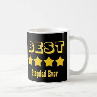 Best STEPDAD Ever 4 Stars RED V05 BLACK GOLD Coffee Mug