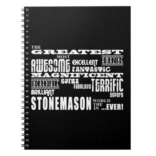Best Stonemasons : Greatest Stonemason Spiral Note Books