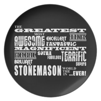 Best Stonemasons : Greatest Stonemason Party Plates