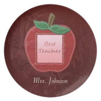 Best Teacher Apple Dinner Plate