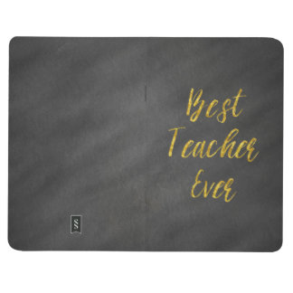 Best Teacher Ever Gold Faux Foil Chalkboard Journal