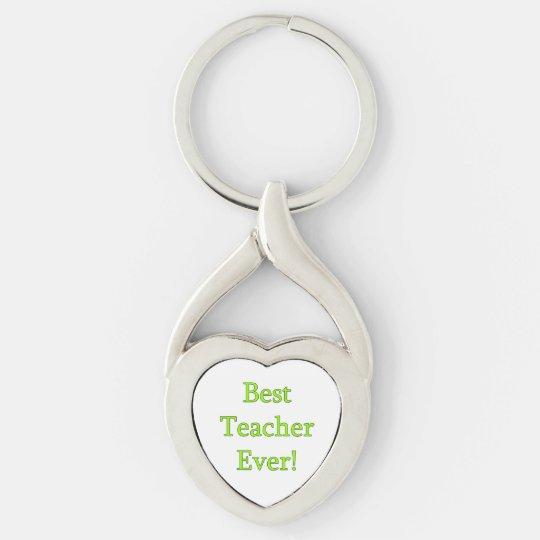 Best Teacher Ever Key Ring