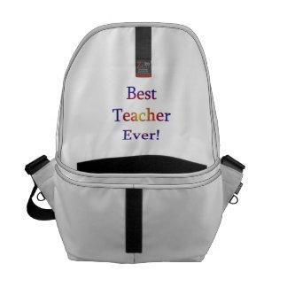 Best Teacher Ever Messenger Bags