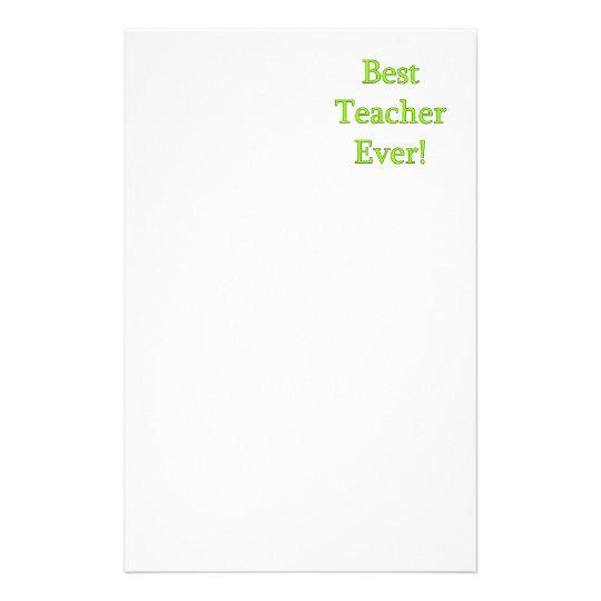 Best Teacher Ever Stationery