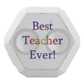 Best Teacher Ever White Bluetooth Speaker