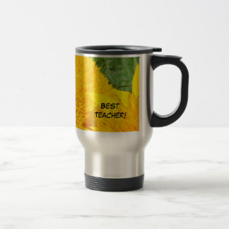 Best Teacher! gifts Coffee Travel Mug Sunflowers